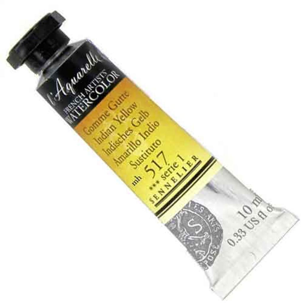 Sennelier l'Aquarelle Watercolour 10ml Tubes | Indian Yellow 517 S1