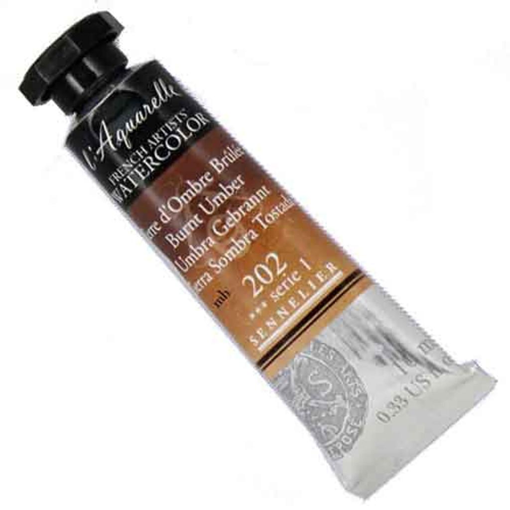 Sennelier l'Aquarelle Watercolour 10ml Tubes | Burnt Umber 202 S1