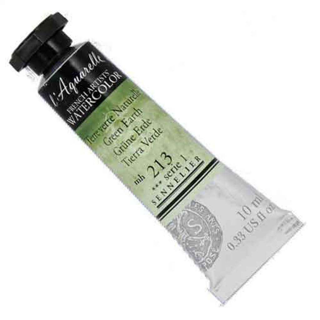 Sennelier l'Aquarelle Watercolour 10ml Tubes | Green Earth 213 S1