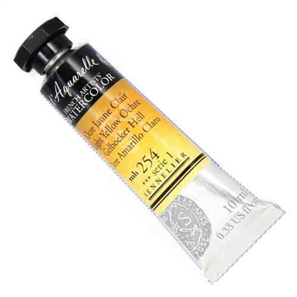 Sennelier l'Aquarelle Watercolour 10ml Tubes | Light Yellow Ochre 254 S1