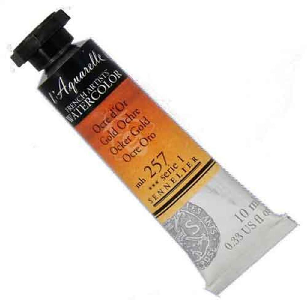 Sennelier l'Aquarelle Watercolour 10ml Tubes | Gold Ochre 257 S1