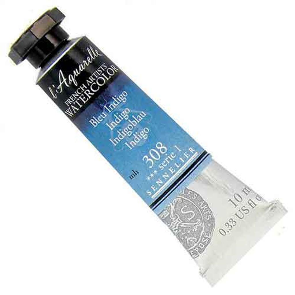 Sennelier l'Aquarelle Watercolour 10ml Tubes | Indigo 308 S1