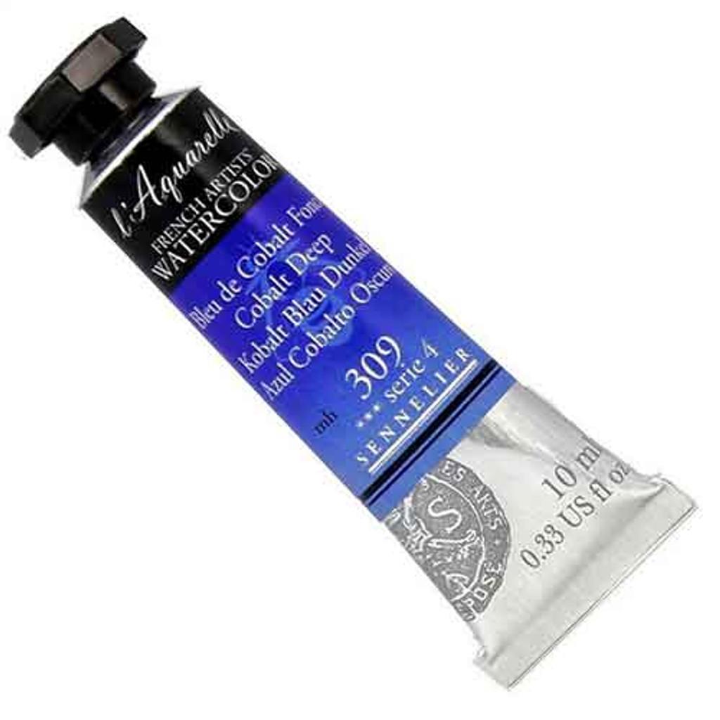 Sennelier l'Aquarelle Watercolour 10ml Tubes | Cobalt Deep 309 S4