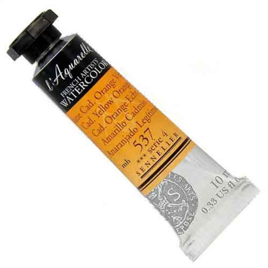 Sennelier l'Aquarelle Watercolour 10ml Tubes | Cadmiumn Yellow Orange 537 S4