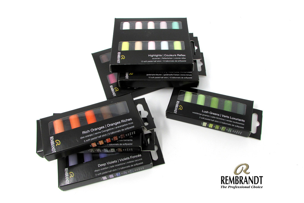 Rembrandt Soft Half Pastels Set of 5 | Various Colour Sets