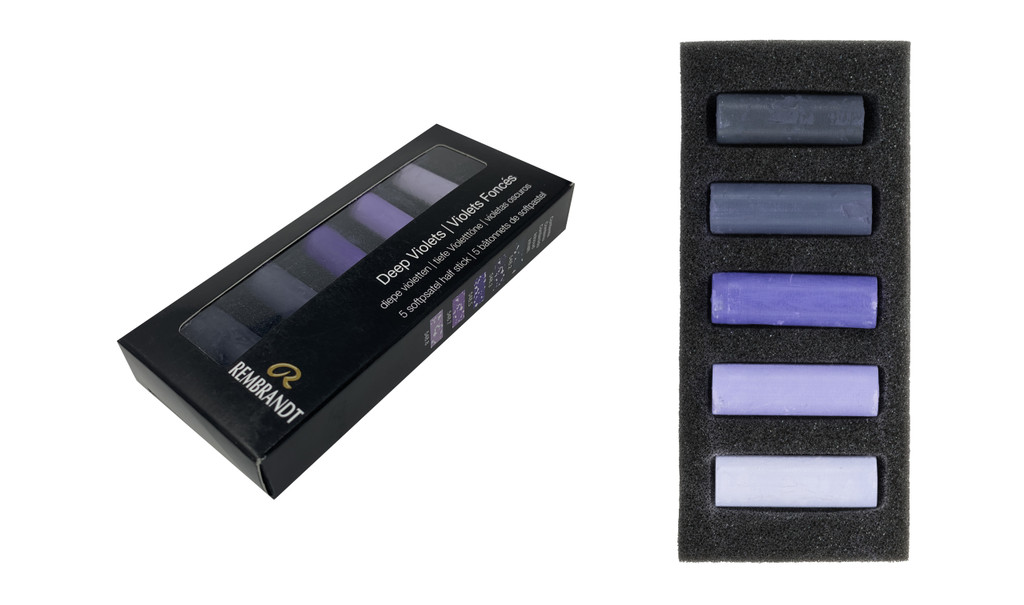 Rembrandt Soft Half Pastels Set of 5 - Deep Violets