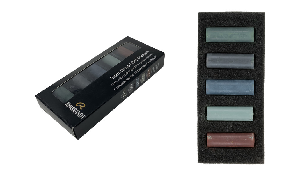 Rembrandt Soft Half Pastels Set of 5 - Storm Greys