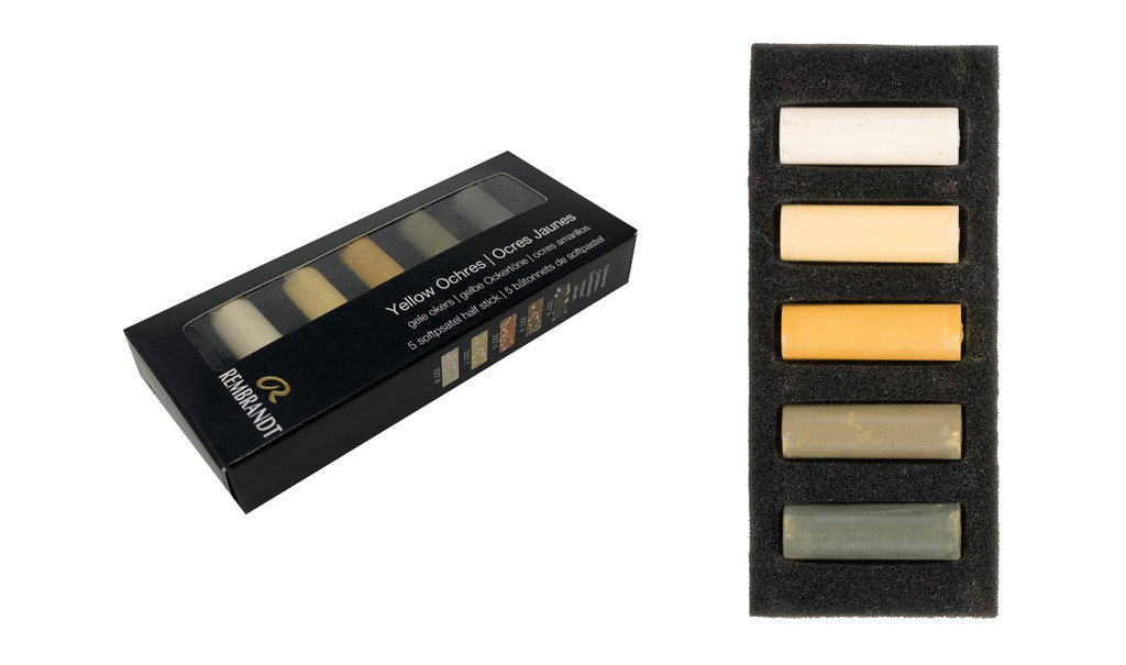 Rembrandt Soft Half Pastels Set of 5 - Yellow Ochres
