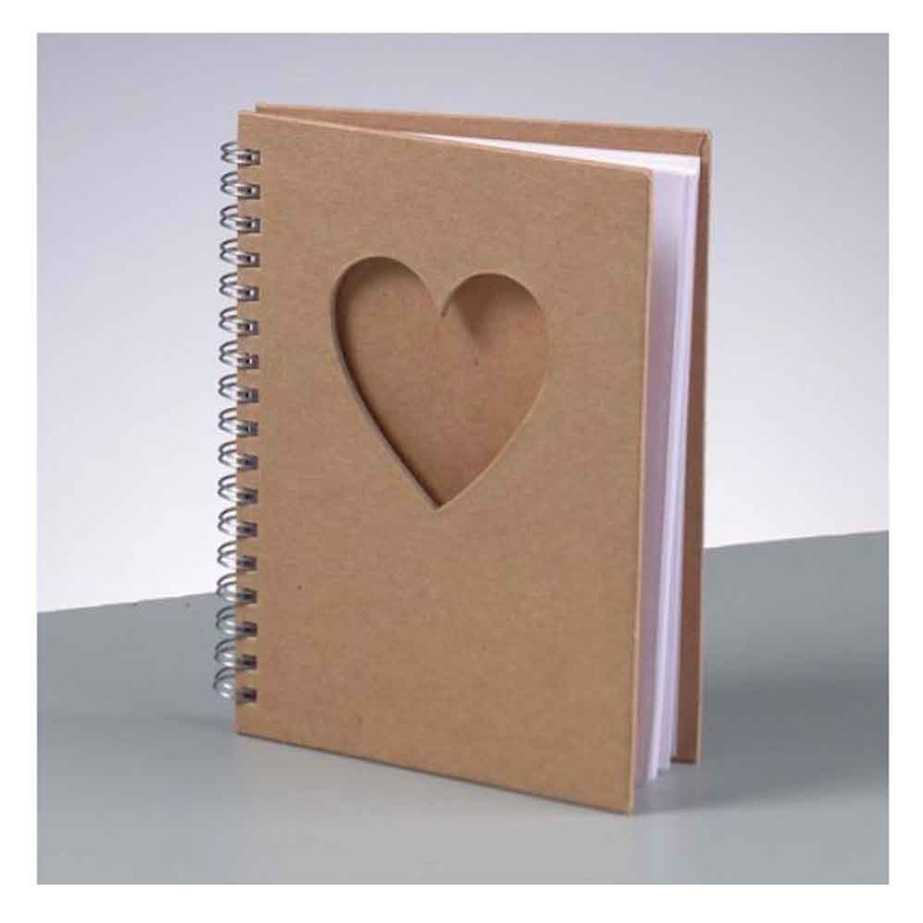 A6 Notebook with Heart Shaped Aperture