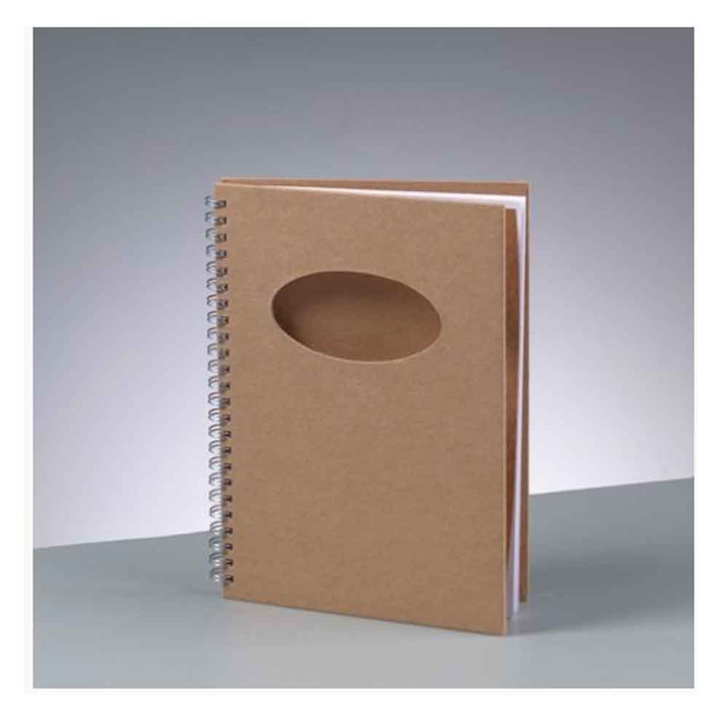 A5 Notebook with Oval Shaped Aperture