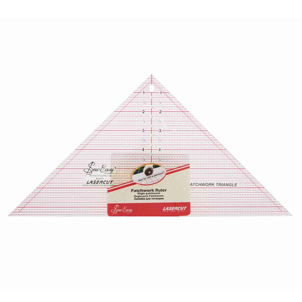 """Laser Cut, Printed 90° Triangle Patchwork Rule 