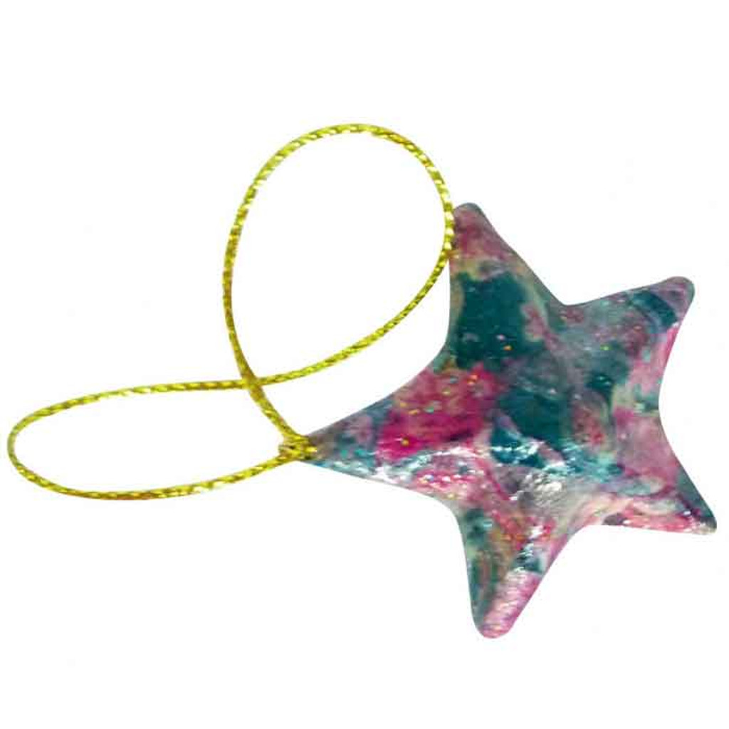 Kraft Stars with Hanging String design