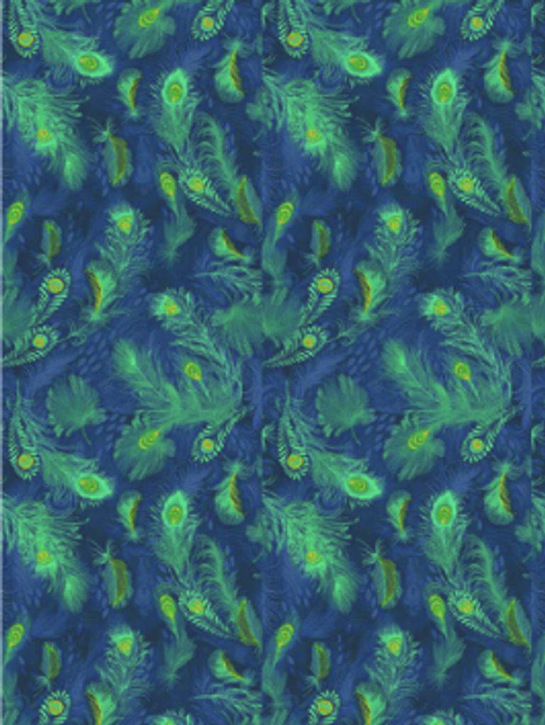 Decopatch Paper | Individual Sheets | 722 | Peacock Feathers Blue