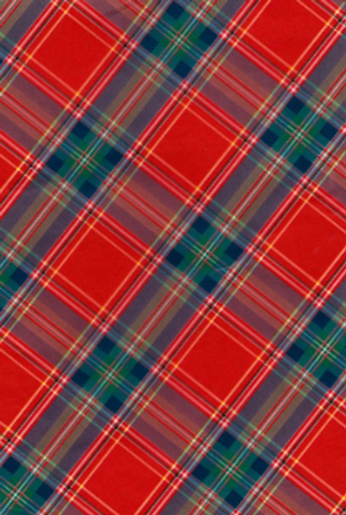 Decopatch Paper | Individual Sheets | 591 | Red Tartan