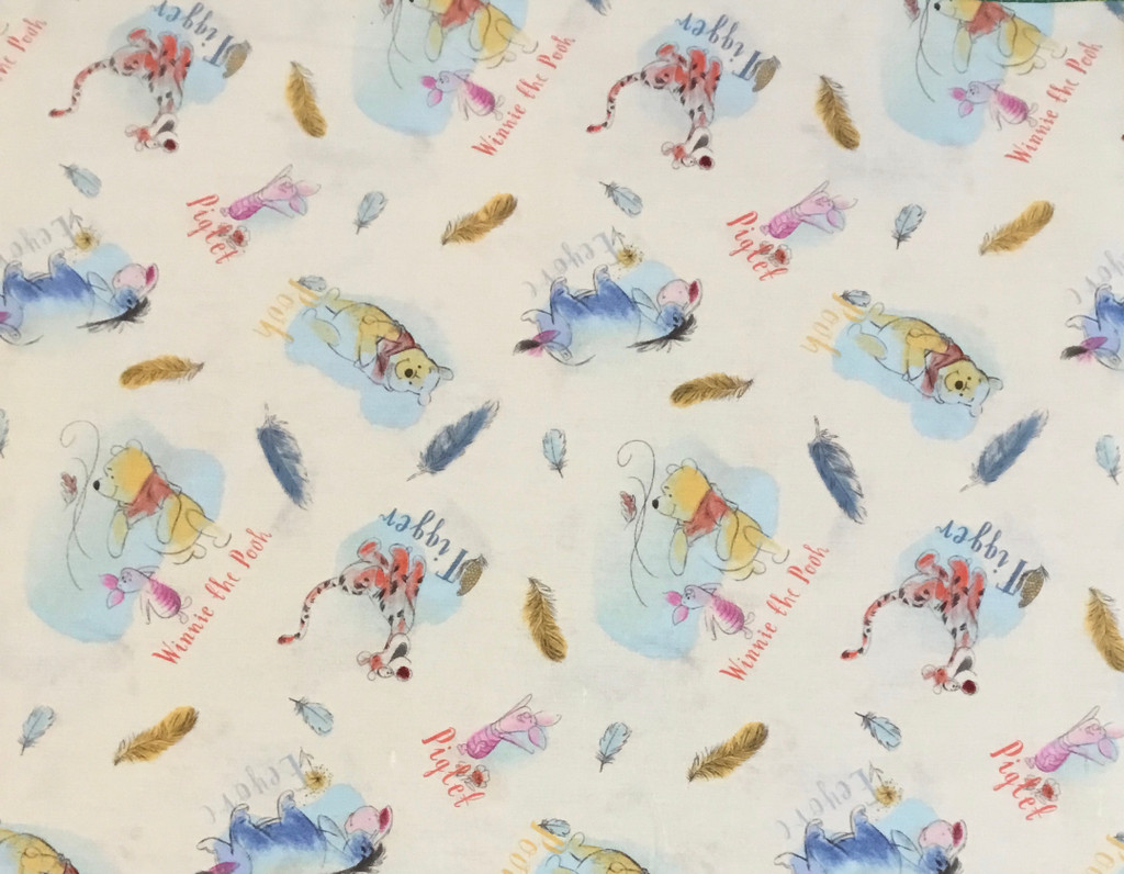 Winnie the Pooh | A.A.Milne and E.H.Shepard | Nutex UK Limited | Pooh and Friends Feathers | CREAM