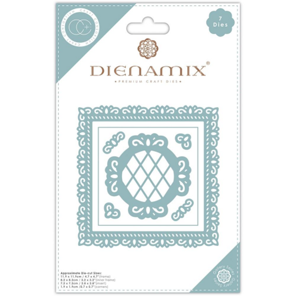 Dienamix | Craft Consortium | Ornate Square Cutting Die