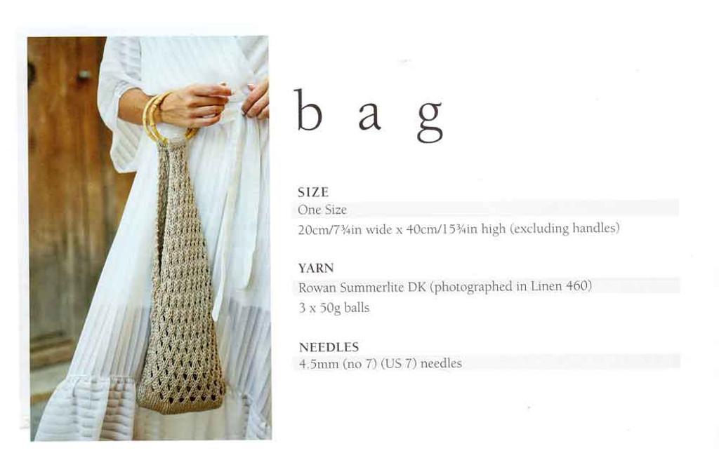 Mode at Rowan   Summer Knit - Bag   Size / Yarn requirements
