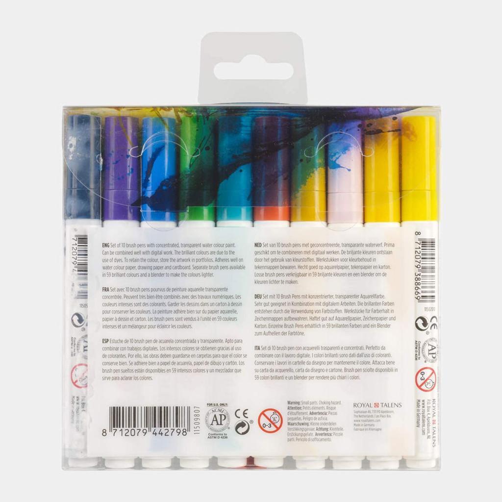 Ecoline   Watercolour Brush Pen Set   Illustrator   Pack of 10