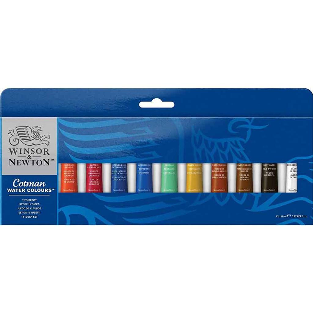 Winsor & Newton 8ml Tube Set | 12 Paint Tube Set - Main Image