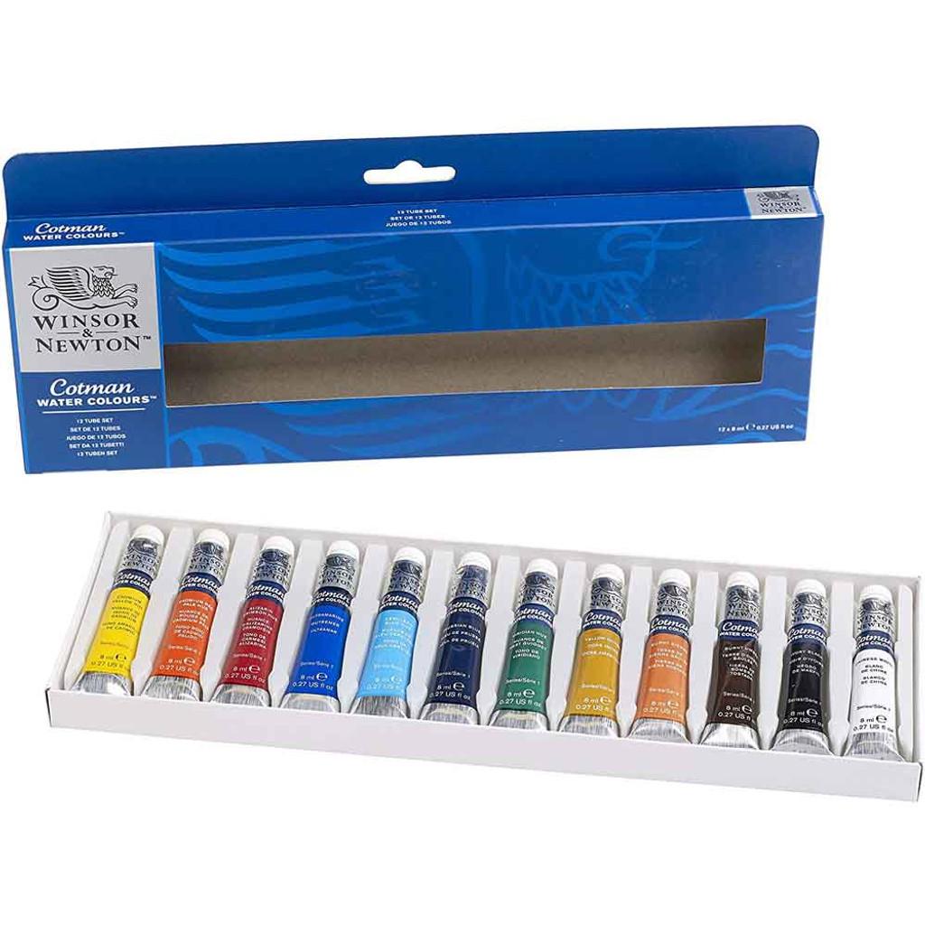 Winsor & Newton Cotman Watercolour 12 Tube Set - Inside