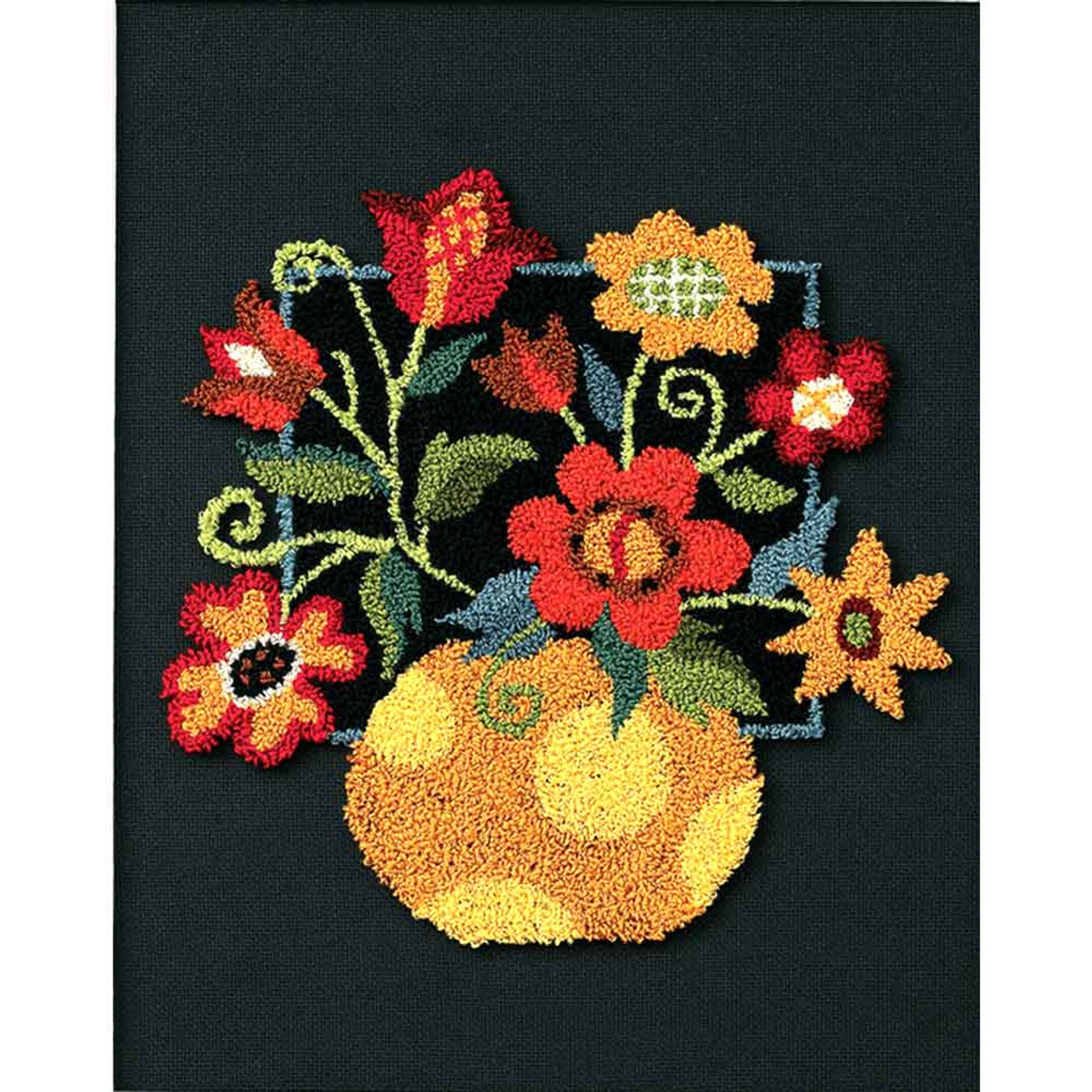 Floral on Black | Punch Needle Kit