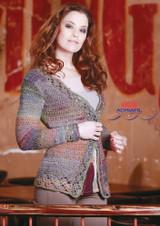 "Crocheted Cardigan ""Cherry"" Knitting Pattern | Adriafil Cristallo"