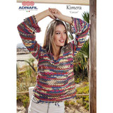 Cancun Pullover/Top Knitting Pattern | Adriafil Kimera DK | Digital Download - Main Image