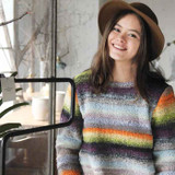21 A-Line Pullover Knitting Pattern | Noro Silk Garden | Digital Download - Main Image