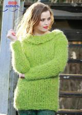 """Chunky Sweater """"Odina"""" Knitting Pattern   Adriafil Olimpo Yarn"""