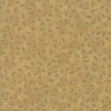 Poinsettias and Pine Metallics | Moda Fabrics | 33515-18M | Holly Leaves Gold