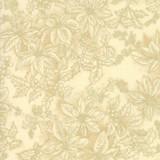 Poinsettias and Pine Metallics | Moda Fabrics | 33516-11M | Foliage Cream