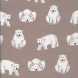 Northerly Flannels | Cloud9 Fabrics | C9NT226934 | Polar Bears Dark Grey
