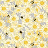 Queen Bee | Diane Kappa | Michael Miller Fabrics | MMDC9160YELLOW | Feed the Bees Yellow
