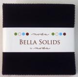 Bella Solids | Moda Fabrics | Charm Pack | 9900-99 | Black
