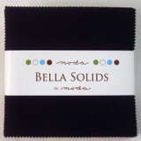 Bella Solids | Moda Fabrics | Charm Pack | 9900-99 | Black