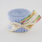 Bella Solids | Moda Fabrics | Junior Jelly Roll | 9900JJR-25 | 30's Blue