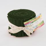 Bella Solids | Moda Fabrics | Junior Jelly Roll | 9900JJR-43 | Pine