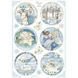 Winter Tales | Dorota Kotowicz | Stamperia | A4 Rice Paper Round Castle