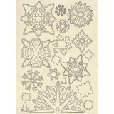 A5 Wooden Shapes | Stamperia | Snowflakes