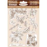 Natural Rubber Stamp Set | Winter Tales | Dorota Kotowicz | Stamperia | Poinsettia