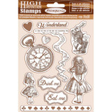 Natural Rubber Stamp Set | Stamperia | Alice