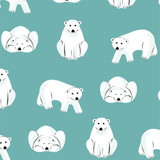 Northerly Flannels | Cloud9 Fabrics | C9NT226933 | Polar Bears Dark Turquoise