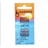 Pony Short Darning Needles Pack of 10 | Size 1 to 5