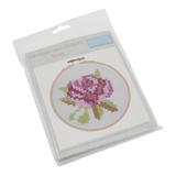 Trimits | Felt Counted Cross Stitch Hoop Kit | Rose - Main Image