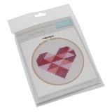 Trimits | Felt Counted Cross Stitch Hoop Kit | Geo Heart - Main Image