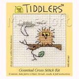 Mouseloft | Tiddlers Mini Cross Stitch Kits | Owl