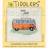 Tiddlers Mini Cross Stitch Kits   Mouseloft   Orange Camper Van - Main Image