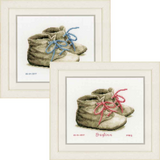 Vervaco | Counted Cross Stitch Kits | Birth Record | Baby Shoes - Main Image