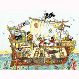 Bothy Threads Cross Stitch Kit | Pirate Ship