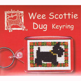 Textile Heritage | Counted Cross Stitch Keyring Kit | Wee Scottie Dug